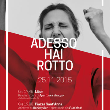 #Adessohairotto! Il 25 novembre la giornata contro la violenza sulle donne