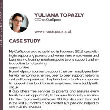 (English) Yuliana Topazly with OutSpace: a success story enhanced by the project Pandora