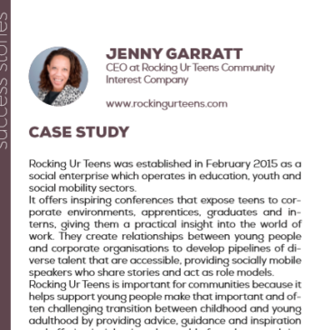 (English) Jenny Garratt with Rocking Ur Teens: a success story enhanced by the project Pandora