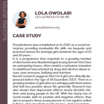 (English) Lola Owolabi and Proud To Be Me: a success story enhanced by the project Pandora
