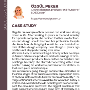 (English) Özgül Peker with SOIE Design: a success story enhanced by the project Pandora
