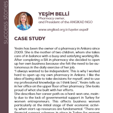 (English) Yeşim Belli with ANGIKAD NGO: a success story enhanced by the project Pandora