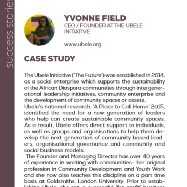 Yvonne Field with Ubele Initiative: a success story enhanced by the project Pandora